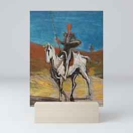 "Honoré Daumier ""Don Quijote and Sancho Panza"" Mini Art Print"