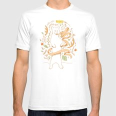 Bears Know Best MEDIUM Mens Fitted Tee White