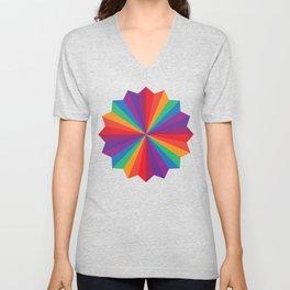 Rainbow Star Unisex V-Neck