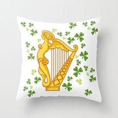 Irish Harp Throw Pillow