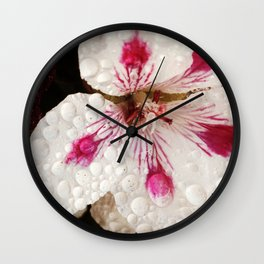 Flowers in the Summer Rain Wall Clock
