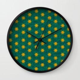 emerald suns Wall Clock