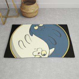 Cats ying yang with chi Rug
