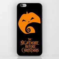 nightmare before christmas iPhone & iPod Skins featuring The Nightmare before Christmas by Citron Vert