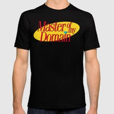 Master of my domain Mens Fitted Tee MEDIUM Black
