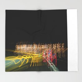 lights and lines, luces y lineas Throw Blanket