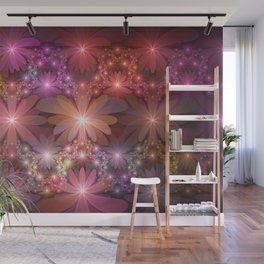 Bed Of Flowers Abstract, Fractal Art Wall Mural