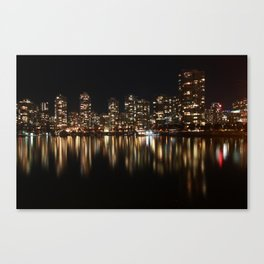 Night Reflections of Yaletown Canvas Print