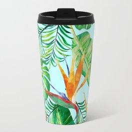 Tropical Illustrtion Pattern Travel Mug