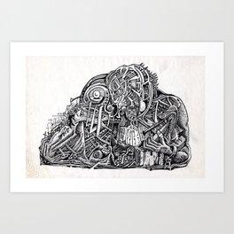 Psycho Warrior, by Brian Benson Art Print
