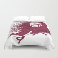 kitsune Duvet Covers featuring Kitsune by Stevyn Llewellyn