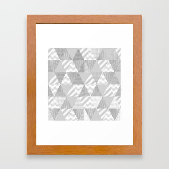 Triangle quilt pattern grey and white minimal modern basic nursery ...