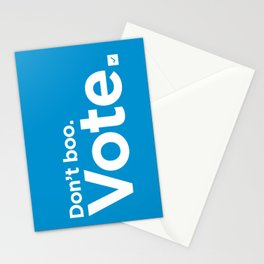 Don't Boo. Vote. Stationery Cards