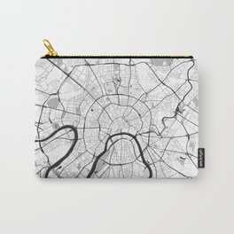 Moscow Map Gray Carry-All Pouch