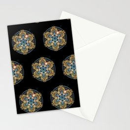 Decorative Golden Tin Stationery Cards