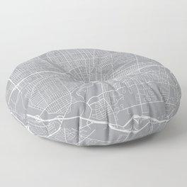 Rochester Map, New York USA - Pewter Floor Pillow
