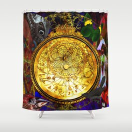 Astrolabe Our Place in the Universe Shower Curtain