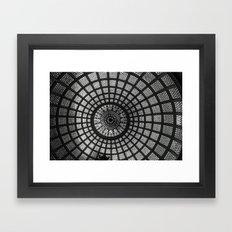 Tiffany Glass Dome Black/White Photography Framed Art Print