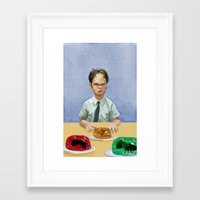 dwight Framed Art Prints featuring Dwight by Richtoon