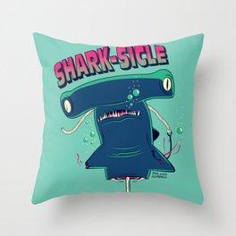 Shark-sicle Throw Pillow
