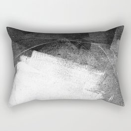 Black and White Ethereal Minimalist Abstract Painting Rectangular Pillow