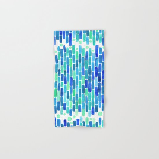 Water Mosaic Hand & Bath Towel