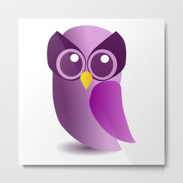 Cute Purple Owl Metal Print