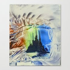 Blue alien cityscape Canvas Print