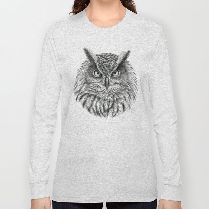 Bubo bubo G2012-046 owl Long Sleeve T-shirt