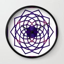 Passionate Purple Prayers Abstract Chakra Art  Wall Clock