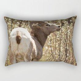 Wild Sheep Photography Print Rectangular Pillow