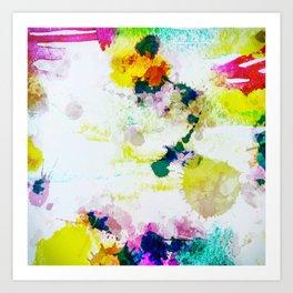 Abstract Paint Splatter Art Art Print