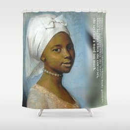 African Beauty Tote Shower Curtain