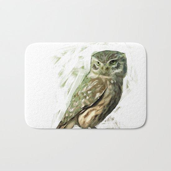 Olive Owl Bath Mat