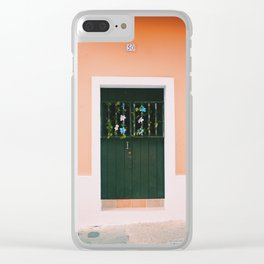 Orange Puerto Rican Doors Clear iPhone Case
