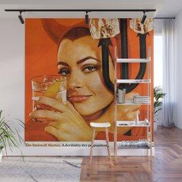 Vodka Martini, A devilishly dry proposition Vintage Pitchfork - Devil Advertisement Poster Wall Mural
