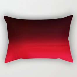 Red Ombré Block Design Rectangular Pillow