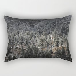 Powdered Mountain Rectangular Pillow