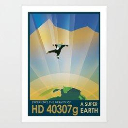 NASA Retro Space Travel Poster #6 Art Print