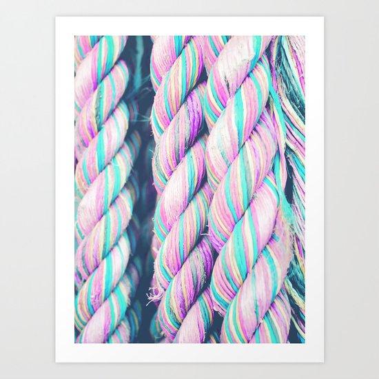 Candy Ropes Art Print