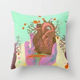 HEART IN HAND Throw Pillow