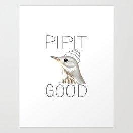 Pipit Good (American Pipit) Art Print