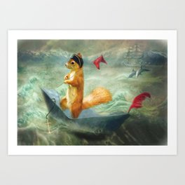 The Landing Party Art Print
