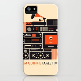 Jim Guthrie Takes Time iPhone Case