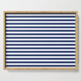 Small Horizontal Navy Stripes Serving Tray