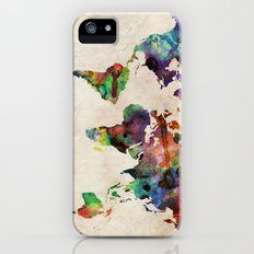 World Map Urban Watercolor Slim Case iPhone (5, 5s)