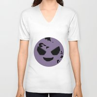 ghost V-neck T-shirts featuring GHOST by Caio Trindade