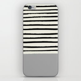 Storm Grey x Stripes iPhone Skin