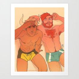 Heavy Horns - Beach Bums Art Print