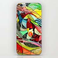 karma iPhone & iPod Skins featuring karma by sylvie demers